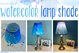 painting lamp shades with acrylic paint fresh diy watercolor lampshade