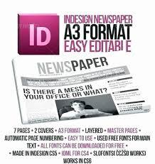 Newspaper Template Indesign Microsoft Word Newspaper Template Free Download Luxury Hoa