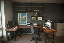 Industrial home office desk Reclaimed Wood Places To Add Industrial Pipe In Your Home For Rustic Look Pinterest Places To Add Industrial Pipe For Rustic Look Pipe Desks