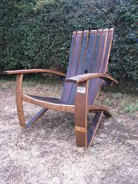 furniture made from wine barrels. Wine Barrel Chair With The Back Fanning Out. Furniture Made From Barrels