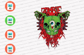 We upload amazing new content everyday! Zombie Star Green Color Graphic By Skull And Rose Creative Fabrica Graphic Illustration Green Colors Creative