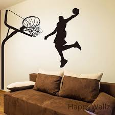 winsome basketball wall decor sticker player decal diy sport decals children decors removable decoration s9 in