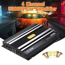 5800 Watt 4 Channel 12V DigitalCar Amplifer Car Audio Power Amplifier Car  Audio HIFI Amplifier for Cars Amplifier Subwoofer|Component Subwoofers