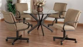 delightful dining room chairs with arms and casters foter