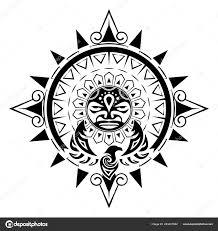 векторное изображение стилизованного изображения птицы солнца