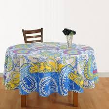 dazzling paisley round table cover 1332