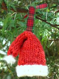 Knitted Santa Hat Ornament: Source