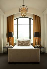 Bedroom  Interior Bedroom Curved Glass Window For Master Bedroom - Master bedroom window treatments