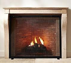 flat panel fireplace screen fireplace screens bronze rustic spark guard flat w woodeze single panel flat fireplace screen with doors 39w x 31h threshold