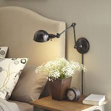 bedside lighting wall mounted. allen roth h bronze swingarm wallmounted lamp with metal shade at loweu0027s create the perfect reading spot this wall from embelton bedside lighting mounted e