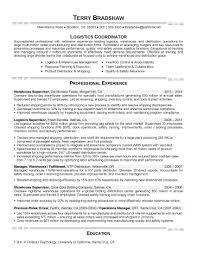 Inventory Control Job Description Resumes Resume Samples Expert Resumes With Logistics Coordinator Job