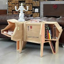 packing crate furniture. packing crate pig coffee table furniture a