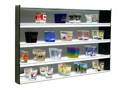 shot glass display case with windows and end caps hobby lobby set of cabinet for shot glasses