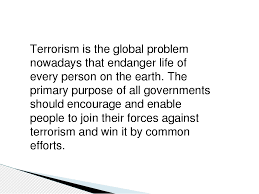 essay terrorism global problem thesis writing word essay terrorism global problem