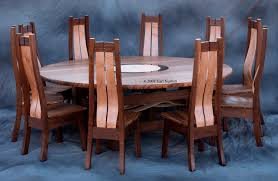 custom made round dining table or conference table with 10 chairs