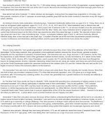 personal characteristics essay essay on generation y