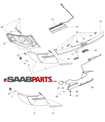 Esaabparts saab 9 5 650 > electrical parts > tail light > tail light
