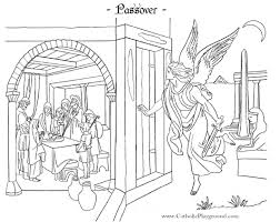 Small Picture Passover Coloring Page Catholic Playground