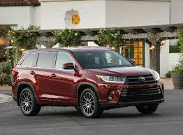 2018 Toyota Highlander Front End And Side View In Red
