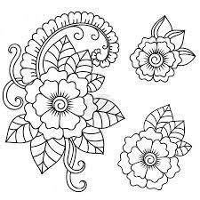 Vektorová Grafika Henna Tetování Květiny šablona Mehndi 123195824