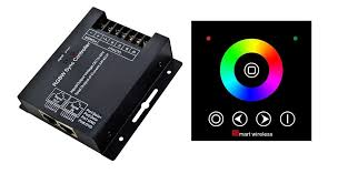 china factory update rf touch rgb controller wall mounted led controller wireless wall panel rgb led controller 576w dc12 24v ce rohs warranty china rf