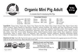 Organic Mini Pig Adult