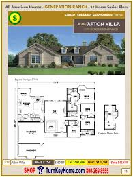 Afton Villa Generation Ranch Modular Home Plan and Price from All American  Homes