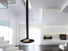 open central hanging fireplace gyrofocus by focus creation