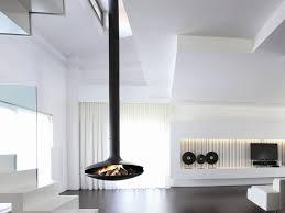 open central hanging fireplace gyrofocus