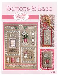Chart Cross Stitch Free Amazon Com Buttons Lace Cross Stitch Chart And Three Free
