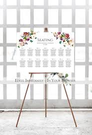 Office Seating Chart Template Floral Wedding Seating Chart Template Reception Seating