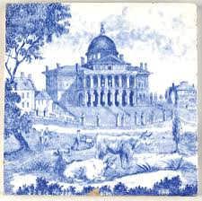 Blue And White Decorative Tiles Minton Boston State House 60 Art Tile at Replacements Ltd 24