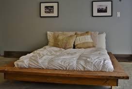 Platform Bedroom Floating Rustic Wood Platform Bed Frame Quilmes