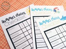 Summer Chores Checklist With Free Printable Soon To Be Charming