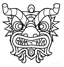 Printable Chinese New Year Coloring Pages New Year Mask Coloring