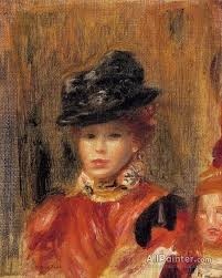 pierre auguste renoir madame le brun and her daughter oil painting reions for