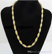 2019 best fine yellow gold jewelry heavy mens 24k yellow solid gold gf chain necklace wide 7mm length 50cm weight 36 5g from goodwomenworld