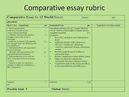 apw comparison essay comparative essay rubric comparative essay  2 comparative