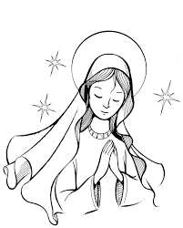 Mary Mother Of Jesus Coloring Pages Best Catholic Coloring Pages For