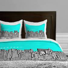 bird ave new york city skyline themed bedding twin queen king