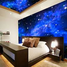 <b>3D Wallpaper</b> Mural Night Clouds <b>Star</b> Sky Wall Paper Background ...