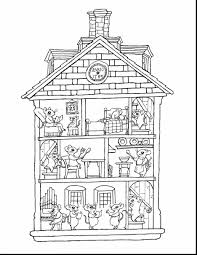 wonderful printable house coloring pages with house coloring pages ...