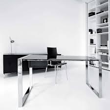contemporary glass office. Contemporary Glass Office Furniture Attractive Modern Desk