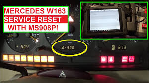 Ml320 Service Light Reset Service Reset Oil Life Reset Mercedes W163 With Maxisys Ms908p Ml230 Ml270 Ml320 Ml430 Ml350 Ml400