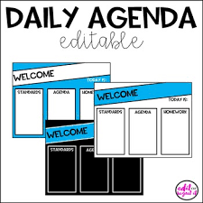 Homework Agenda Templates Student Homework Agenda Template Teaching Resources Teachers Pay