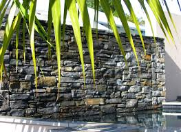 stone water feature walls