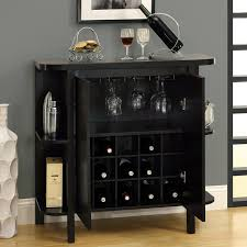 Dulcet Bar Cabinet Wine Rack Side Shelves Cappuccino