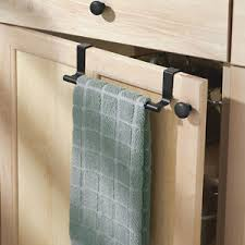 Over Door Towel Bar Hanging Holder Bathroom Kitchen Cabinet Hand