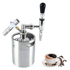 See more ideas about brewing, homebrew kit, home brewing. Amazon Com Yaebrew 64 Ounce Mini Stainless Steel Homebrew Coffee Keg System Kit Nitro Cold Brew Coffee Maker 64 Oz Best Gift For Coffee Lovers Diy Updated Kitchen Dining