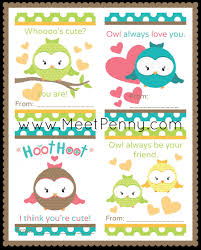 owl valentine s day cards to print. Delighful Valentine Free Printable Owls Valentineu0027s Day Cards Intended Owl Valentine S To Print O